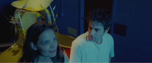 """Katie Holmes (left) and Luke Kirby play bipolar lovers in the romantic drama """"Touched With Fire."""" Joey Kuhn  