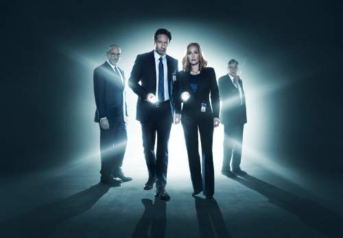 "Mitch Pileggi, David Duchovny, Gillian Anderson and William B. Davis return in ""The X-Files.""  Cr: Frank Ockenfels/FOX"