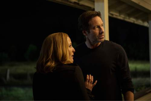 David Duchovny and Gillian Anderson return in ìThe X-Files.î  Cr: Ed Araquel/FOX