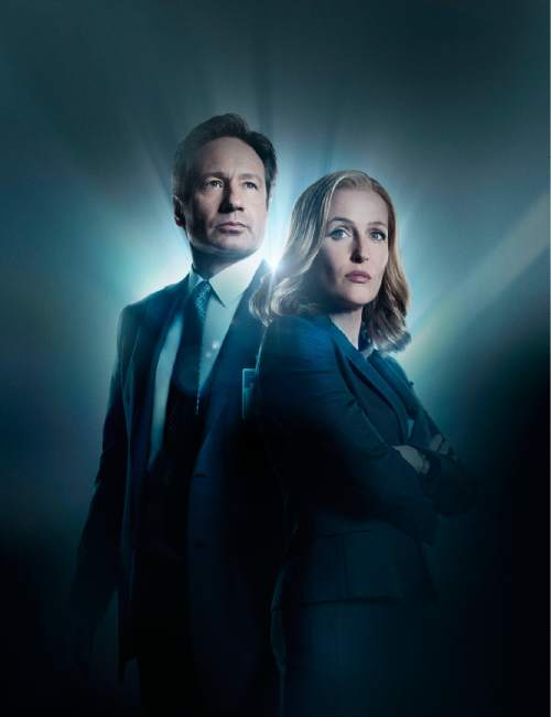 "David Duchovny and Gillian Anderson return in ""The X-Files.""  Cr: Frank Ockenfels/FOX"