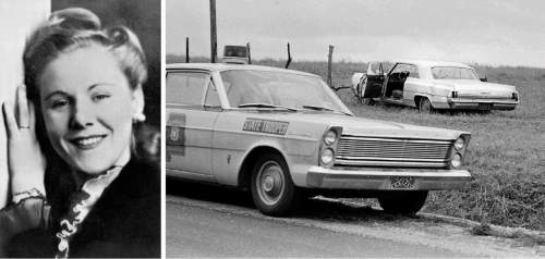 Viola Liuzzo and the car she was driving in Alabama in 1965 when she was shot dead by Ku Klux Klan members. (Courtesy of Pygmalion Productions)