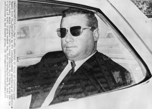In this May 3, 1965 file photo, Gary Thomas Rowe, Jr., reported as an FBI informer, leaves the courthouse at Haynesville, Ala.,  where Klansman Collie Leroy Wilkins, Jr. was being tried for the slaying of civil rights worker Viola Liuzzo. (AP Wirephoto)