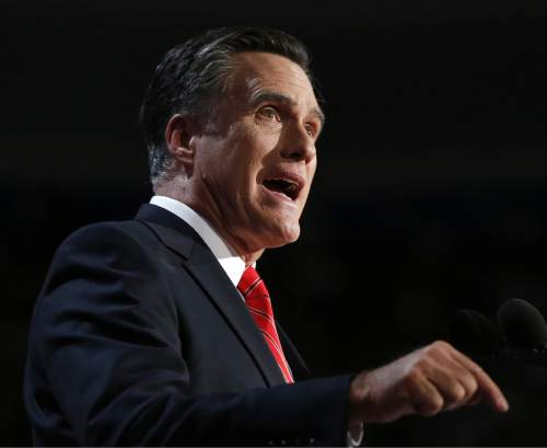 FILE - In this Aug. 30, 2012 file photo, Republican presidential candidate, former Massachusetts Gov. Mitt Romney speaks at the Republican National Convention in Tampa, Fla. While Romney's campaign rhetoric is emphasizing the current 8.3 percent unemployment rate, compared with 7.8 percent when Obama took office, President Obama's campaign naturally prefers to stress the more than 4 million jobs the economy has added in the past 2Ω years. However, neither figure fully illustrates the state of the job market.  (AP Photo/Jae C. Hong, File)