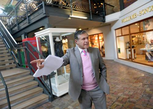 Al Hartmann    Tribune file photo Koshro Semnani, pictured in 2014, purchased Trolley Square in 2013 and is pursuing plans to revamp the historic mall.