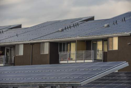 Francisco Kjolseth     Tribune file photo Artspace Solar Gardens at 850 South 400 West in Salt Lake City, which opened in August 2013, is the first net zero mixed-use energy building with onsite solar production in the state of Utah.