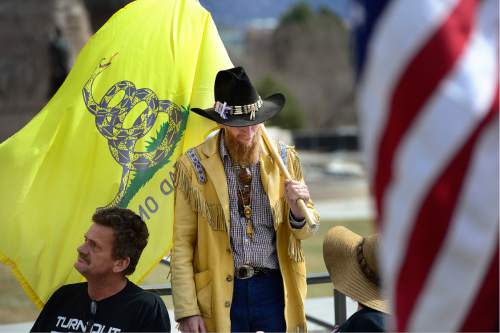 Scott Sommerdorf   |  The Salt Lake Tribune   Supporters and family of LaVoy Finicum held a rally at the Utah State Capitol, Saturday, March 5, 2016.