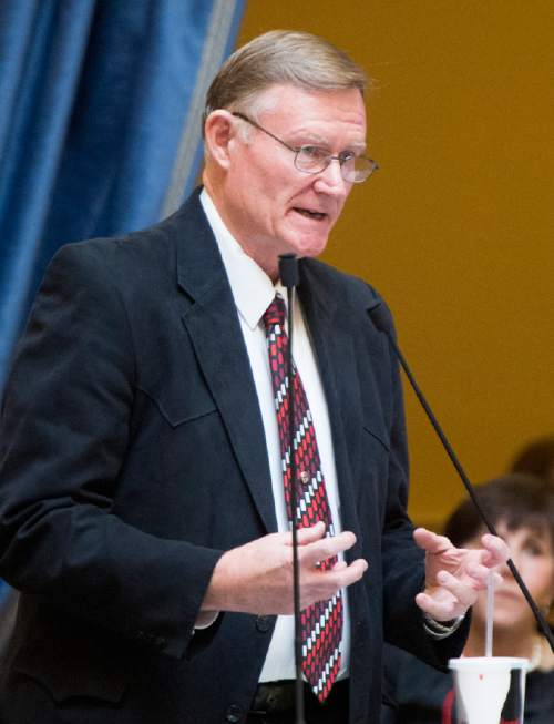 Rick Egan  |   Tribune file photo  Sen. Evan Vickers, R-Cedar City, said a new hybrid measure that combines his bill with elements of Sen. Mark Madsen's legislation goes too far for him, but he believes in the process that produced the compromise.