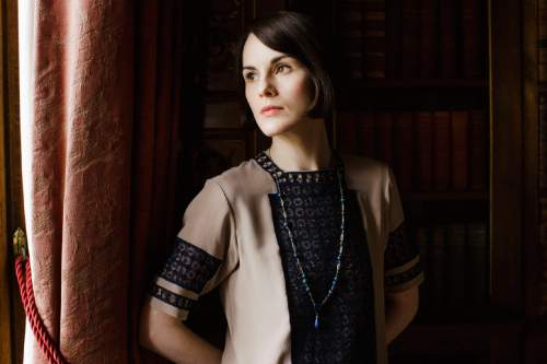 "This image released by PBS shows Michelle Dockery as Lady Mary in a scene from the final season of ""Downton Abbey."" The series finale airs in the U.S. on Sunday. (Nick Briggs/Carnival Film & Television Limited 2015 for MASTERPIECE via AP)"
