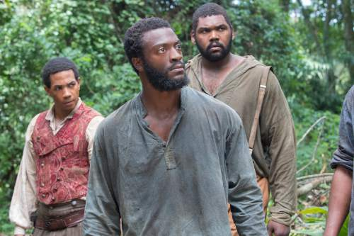 This Image Released By Wgn Shows From Left Alano Miller Aldis Hodge And
