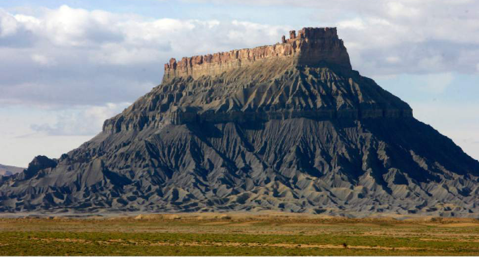 Al Hartmann  |  The Salt Lake Tribune Factory Butte near Hanksville is on the Southern Utah Wilderness Alliance list of Utah's ten most threatened wilderness treasures because of a 4,277-mile network of motorized routes approved under BLM's Richfield travel plan. In a May 22 ruling with implications for five other BLM travel plans, a federal judge ordered BLM to complete archaeological surveys of these trails within three years, starting with lands near Factory Butte.