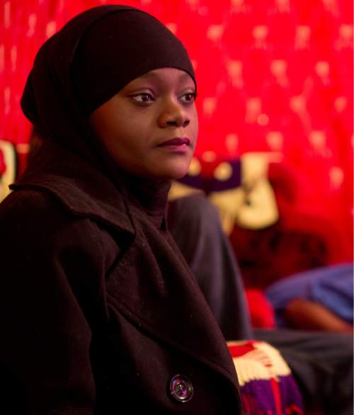 Lennie Mahler  |  The Salt Lake Tribune  Muslima Aden, cousin of Abdi Mohamed, has acted as the spokesperson for the family following the police shooting of Mohamed on Feb. 27. Aden said she gets about 100 calls every day from media, city officials, family and friends.