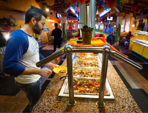 Steve Griffin  |  The Salt Lake Tribune   The Friday night vegan buffet at Mi Ranchito Grill in South Salt Lake has become a popular event among Salt Lake City's meat- and dairy-free eaters.
