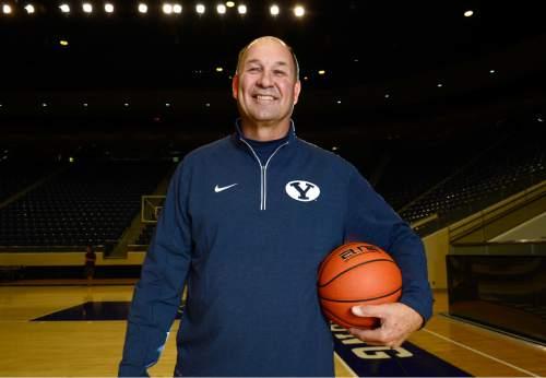 Scott Sommerdorf   |  The Salt Lake Tribune BYU Women's basketball head coach Jeff Judkins, at the Marriott Center, Wednesday, October 14, 2015.