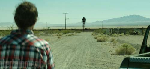 "A demon chases two men across the desert in the horror anthology ""Southbound."" Courtesy The Orchard"