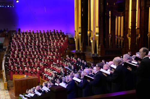 "Scott Sommerdorf   |  The Salt Lake Tribune The Mormon Tabernacle Choir and Orchestra at Temple Square will present Handel's ""Messiah"" in the Tabernacle, Friday, April 18, 2014. This is the event that ""sold out"" of free tickets in 7.5 minutes."