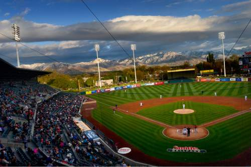 Scott Sommerdorf   |  The Salt Lake Tribune Those that attended the Bees' home opener had more than baseball to look at as the Bees opened their season. The Salt Lake Bees opened their 2015 season against the Sacramento River Cats at Smith's Ballpark, Friday, April 17, 2015.