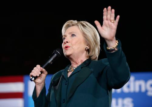 Democratic presidential candidate Hillary Clinton speaks during a rally Friday, Feb. 19, 2016, in Las Vegas. Ask people what economic issues will be important for the next president, and Democrats, Republicans and independents alike all put a high priority on protecting Social Security and reducing unemployment. Beyond that, though, their lists of top economic concerns for the next president are more fractured, according to a poll conducted by The Associated Press-NORC Center for Public Affairs Research. (AP Photo/John Locher, File)
