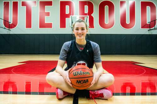 Chris Detrick     The Salt Lake Tribune Utah basketball player Paige Crozon poses for a portrait Thursday January 28, 2016.