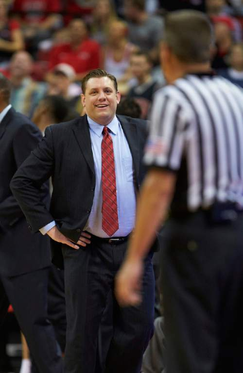 R. Marsh Starks  |  UNLV Photo Services  UNLV Todd Simon interim head coach, Todd Simon, was hired as the new men's basketball coach at Southern Utah University.