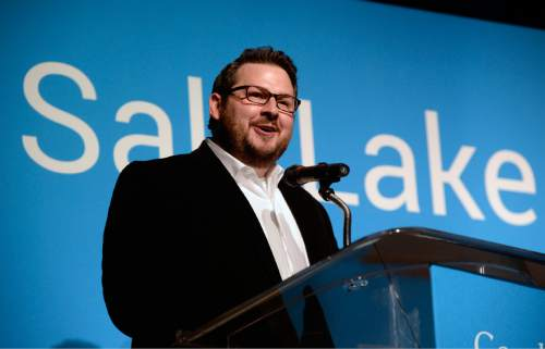 Al Hartmann  |  Tribune file photo Devin Baer, of Google Utah, is shown at a media event March 24, 2015. The company is opening a store at Trolley Square and expects to provide some services beginning later this in 2016.