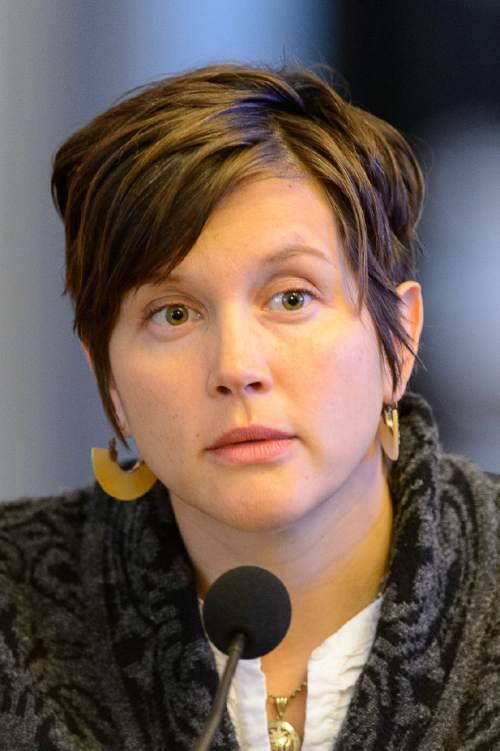 Trent Nelson  |  The Salt Lake Tribune Salt Lake City Council Member Erin Mendenhall during a meeting of the council in Salt Lake City, Tuesday January 5, 2016.