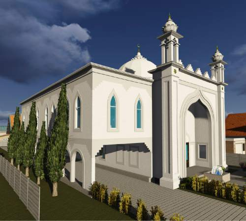 Courtesy  |  Architect Kimly Mangum, PC A rendering of the new Masjid Al Noor mosque proposed for construction at 740 S. 700 East in Salt Lake City.