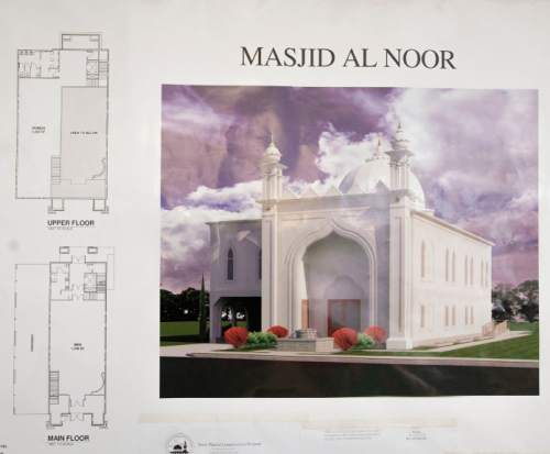 Steve Griffin  |  The Salt Lake Tribune A rendering of the new Masjid Al Noor mosque proposed for construction at 740 S. 700 East in Salt Lake City.