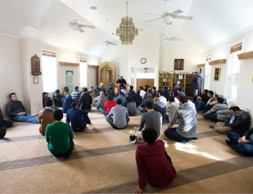 Steve Griffin  |  The Salt Lake Tribune A prayer meeting at the Masjid Al Noor mosque at 740 S. 700 East in Salt Lake City on Friday, Feb. 19, 2016.