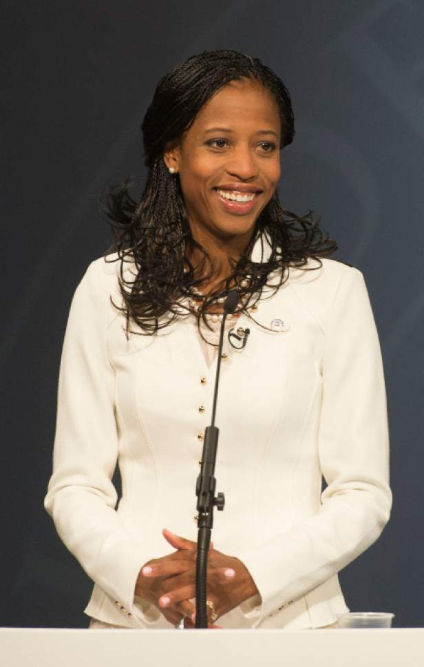 Steve Griffin  |  Tribune file photo Could Rep. Mia Love, R-Utah, be hurt by having Donald Trump at the top of the Republican ticket in November? Her campaign doubts such an effect and believes Utah Democrats would have their own problems from Hillary Clinton at the top of their candidate slate.