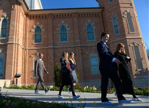 Leah Hogsten  |  The Salt Lake Tribune The Provo City Center Temple was dedicated Sunday, March 20, 2016. The Church's 112-year-old Provo Tabernacle burned in December 2010 and only the shell of the building was left. After the burned-out structure was gutted, Mormon leaders decided to use the building's exterior to house the temple.