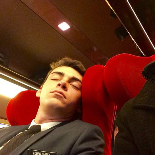 |  Courtesy Brandan Motiuk  Empey asleep in the chair