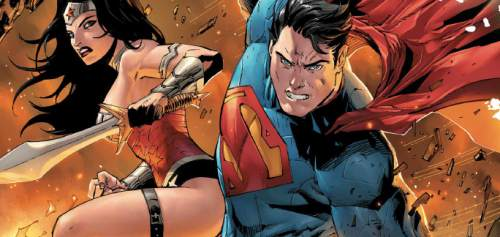 """The cover of the 12th issue of the """"Superman/Wonder Woman"""" comics series. Courtesy DC Comics"""