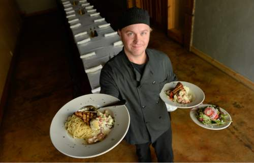 Francisco Kjolseth | The Salt Lake Tribune Chef Fred Moesinger of CaffÈ Molise in downtown Salt Lake City. One of the best ways to enjoy some of Utah best restaurants, without breaking your wallet, is to go for lunch. Caffe Molise in downtown Salt Lake City, for example, offers the pollo alla gratella for lunch at $12.95 and dinner for $19.95 but with a larger portion at night that includes, mashed potatoes and a salad.