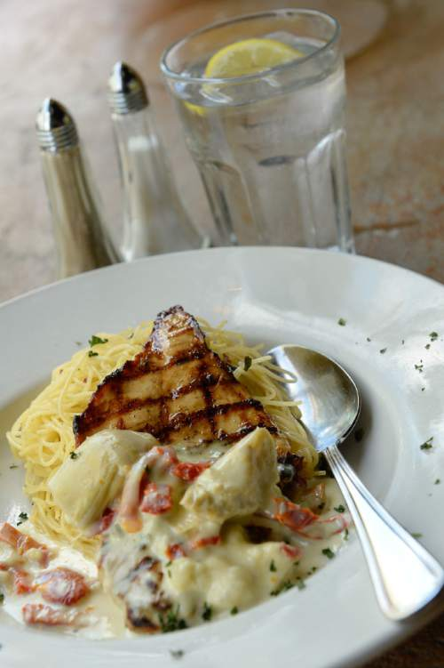 Francisco Kjolseth | The Salt Lake Tribune One of the best ways to enjoy some of Utah best restaurants, without breaking your wallet, is to go for lunch. Caffe Molise in downtown Salt Lake City, for example, offers the pollo alla gratella for lunch at $12.95 and dinner for $19.95 but with a larger portion at night that includes, mashed potatoes and a salad.