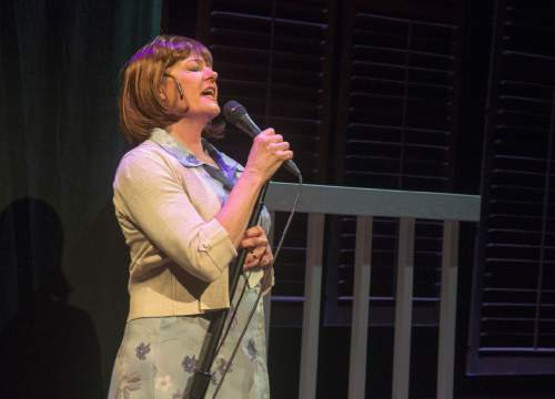 "Rick Egan  |  The Salt Lake Tribune  Jeanette Puhich sings in Plan-B's first original musical, ""Kingdom of Heaven."""