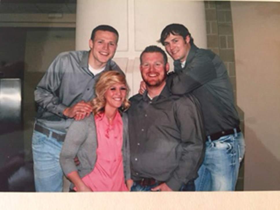 BYU quarterback Taysom Hill (left), with siblings Celeste, Jordan and Dexter. Courtesy photo