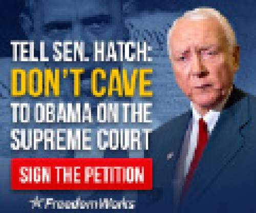 A screengrab of a FreedomWorks ad about Orrin Hatch.  Courtesy image