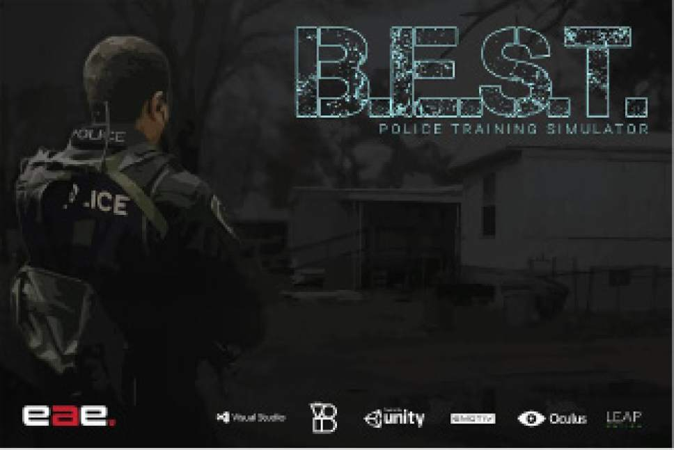 "|  Courtesy Jed Merrill  Utah officers might practice de-escalation training with the virtual-reality simulator ""B.E.S.T. Police Training,"" currently in development by University of Utah students."