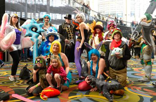 Leah Hogsten  |  The Salt Lake Tribune Salt Lake Comic Con's FanX 2016 attendees mingle during the three-day pop-culture convention at the Salt Palace Convention Center, Friday, March 25, 2016.