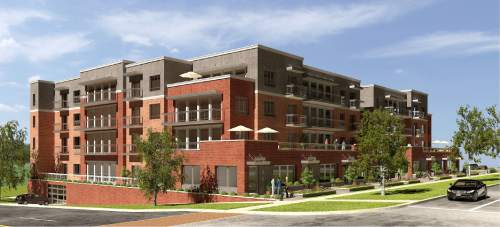 Courtesy CRSA in Salt Lake City Plans for Hardison Apartments-- with 77 dwellings on four floors, to be built near the corner of 500 East and South Temple-- were approved Salt Lake City's Historic Landmark Commission on Thursday.