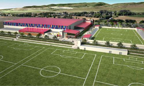 |  Courtesy  Renderings of RSL's new practice facility in Herriman.