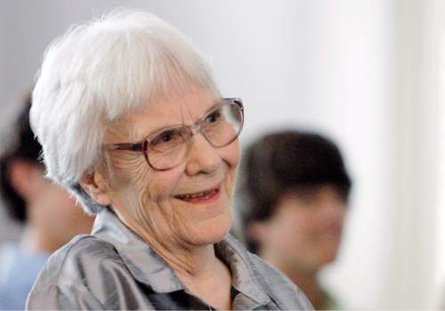 """FILE - In this Aug. 20, 2007, file photo, """"To Kill A Mockingbird"""" author Harper Lee smiles during a ceremony honoring the four new members of the Alabama Academy of Honor, at the state Capitol in Montgomery, Ala. (AP Photo/Rob Carr, File)"""