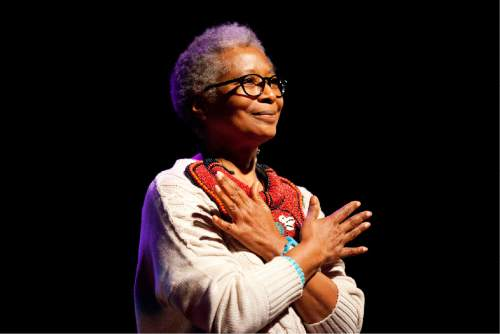 """This photo released by PBS shows Alice Walker at the London premiere of American Masters """"Alice Walker: Beauty In Truth,"""" in London. (AP Photo/PBS, Brenda Lawley)"""