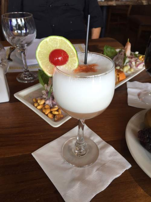 Kathy Stephenson  |  The Salt Lake Tribune  The Pisco Sour at Del Mar al Lago in Park City.