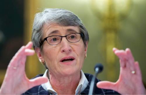 AP file photo |  Manuel Balce Ceneta Interior Sally Jewell said Utah will be on her itinerary this year as she makes a push to protect public lands in the West. The comment has again fueled speculation about a Bears Ears monument designation in southeastern Utah.