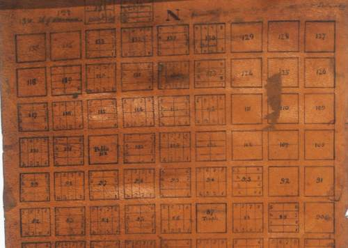    Courtesy   The earliest known map of Salt Lake City, written in summer 1847.