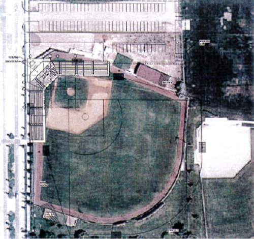 Courtesy  |  University of Utah  A photo shows the current Utah baseball practice field from above. Utah athletics hopes to build a multi-million-dollar new stadium close to campus to replace Utah's current home game arrangement with Smith's ballpark.