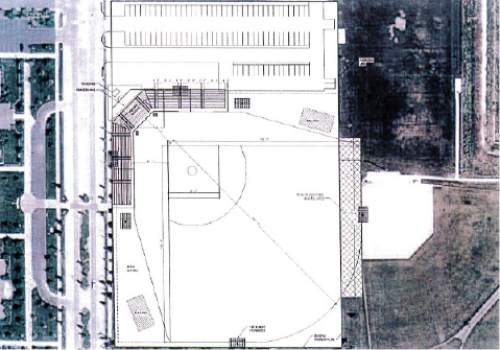 Courtesy  |  University of Utah  University renderings show a top view of how the Utes hope to renovate their current practice field and lease a tract of Sunnyside Park for a new baseball stadium.