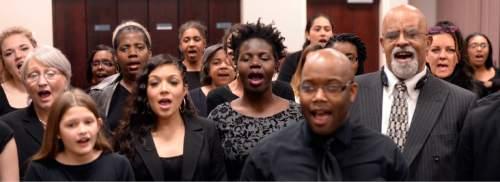 Al Hartmann  |  The Salt Lake Tribune LDS Genesis Group Choir rehearses in February.