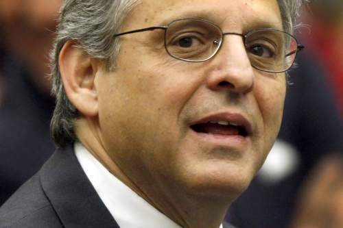 FILE - In this May 1, 2008, file photo, Judge Merrick B. Garland is seen at the federal courthouse in Washington. President Obama is expected to nominate Federal Appeals Court Judge Merrick Garland to the Supreme Court. (AP Photo/Charles Dharapak, File)